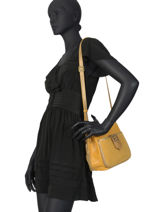 Leather Crossbody Bag Vintage Mila louise Black vintage 3317CVHG-vue-porte
