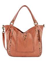 Shoulder Bag Studs Leather Basilic pepper Orange studs BSTU12