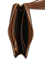 Purse Leather Etrier Brown tradition EHER97-vue-porte
