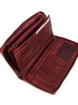 Wallet Leather Biba Red accessoires BT10-vue-porte