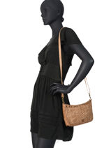 Crossbody Bag Heritage Leather Biba Brown heritage STE3L-vue-porte