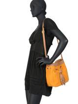 Crossbody Bag Tornade Leather Etrier Orange tornade ETOR07-vue-porte
