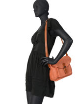 Sac Bandoulière Brown Miniprix Orange brown H6711-vue-porte