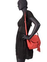 Shoulder Bag Evasion Leather Etrier Red evasion EEVA02-vue-porte