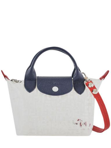 Longchamp Le pliage lgp transparent Sacs porté main Blanc