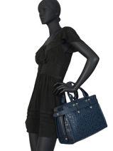 Longchamp La voyageuse lgp Sacs porté main Bleu-vue-porte