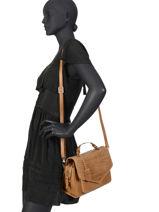Shoulder Bag Croco Cody Leather Burkely Brown croco cody 551429-vue-porte