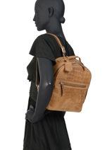 Backpack Croco Cody Burkely Brown croco cody 551329-vue-porte