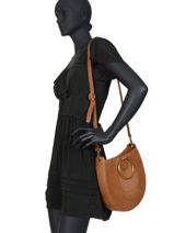 Leather Brooke Crossbody Bag Nat et nin Brown vintage BROOKE-vue-porte