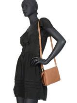 Shoulder Bag  Leather Crinkles Brown 80803-vue-porte