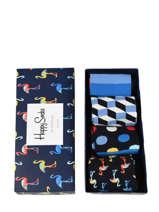 Coffret Cadeau Happy socks Noir pack XNAV09