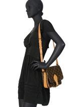 Preloved Louis Vuitton Crossbody Bag Cartouchière Monogram Brand connection Brown louis vuitton - 0000540A-vue-porte