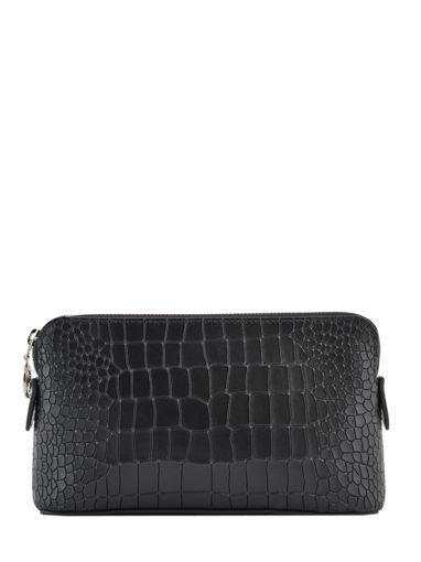 Longchamp Le pliage cuir croco Pochettes Noir