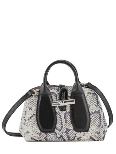 Longchamp Roseau python Sacs porté main Noir