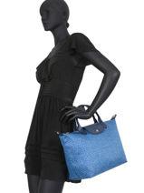 Longchamp Le pliage panthÈre Sacs porté main Bleu-vue-porte