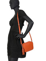 Crossbody Bag  Leather Milano Orange CA160613-vue-porte