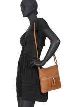 Crossbody Bag Leather Milano Brown CA19117-vue-porte