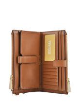 Wallet Leather Michael kors Brown money pieces S0GJ6W4T-vue-porte