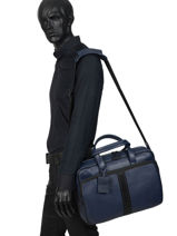 """Leather Business Bag Rebel Reese With 15"""" Laptop Sleeve Burkely Black rebel reese 552164-vue-porte"""