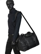 Leather Travel Bag Rebel Reese Burkely Black rebel reese 552064-vue-porte