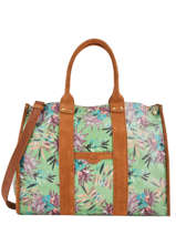 Large Tote Bag Palm Raffia Mila louise Green palm 23691PLM