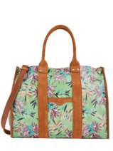 Sac Shopping Format A4 Palm Raphia Mila louise Vert palm 23691PLM