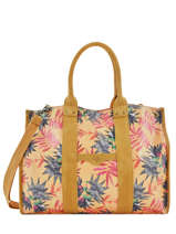 Large Tote Bag Palm Raffia Mila louise Yellow palm 23691PLM