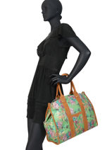 Large Tote Bag Palm Raffia Mila louise Green palm 23691PLM-vue-porte
