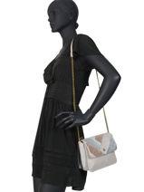 Crossbody Bag Marthe Lulu castagnette Gray patchwork MARTHE-vue-porte