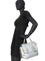 Crossbody Bag New Soft Lulu castagnette Silver new soft MELANIE-vue-porte