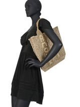 "Jute Shopping Bag ""amour"" The jacksons Green tessa T-AMOUR-vue-porte"