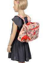 Cartable 1 Compartiment Kipling Rose back to school 13571-vue-porte
