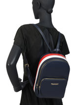 Backpack Th Corporate Tommy hilfiger Blue tj corporate AW07689-vue-porte