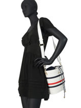 Crossbody Bag Tommy Staple Tommy hilfiger White tommy staple AW08310-vue-porte