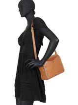 Sac Bandouliere Vintage Cuir Mila louise Marron vintage 3146CVS-vue-porte