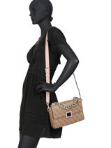 Sac Bandouliere Candace Guess Brown candace SG766818-vue-porte