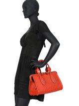 Longchamp La voyageuse lgp Sacs porté main Rouge-vue-porte