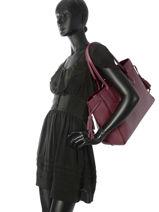 Longchamp Pénélope Hobo bag Red-vue-porte