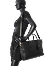 Longchamp Pénélope Briefcase Black-vue-porte