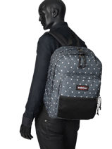 Backpack Pinnacle Eastpak Black pbg authentic PBGK060-vue-porte