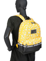 Backpack 1 Compartment Superdry Yellow backpack woomen W9110016-vue-porte