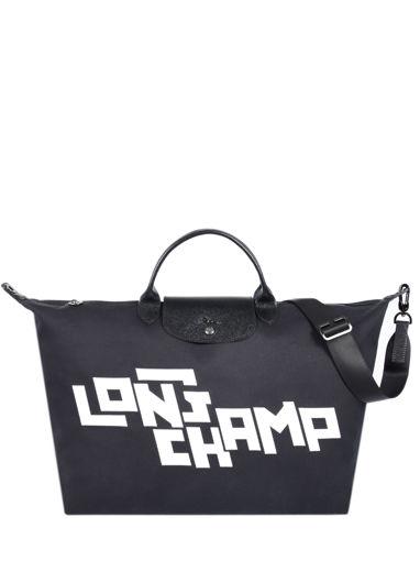 Longchamp Le pliage lgp stamp Travel bag Black