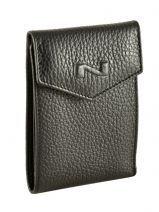Card Holder Leather Nathan baume Black original n 225N