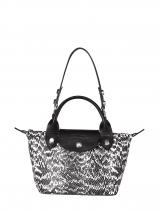 Longchamp Mini pliage cuir serpent d