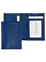 Longchamp Le foulonné Porte billets/cartes Bleu