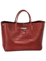 Longchamp Roseau Croco Handbag