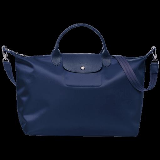Longchamp Le pliage neo Sac port� main Bleu
