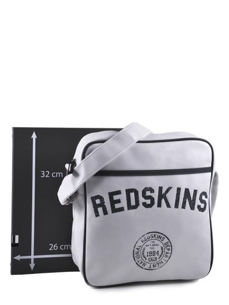 Sac Bandoulière Redskins Blanc airline RD15002 vue secondaire 7