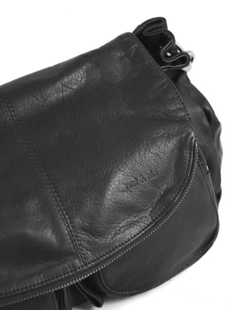 Crossbody Bag Lola Leather Nat et nin Black vintage LOLA other view 1