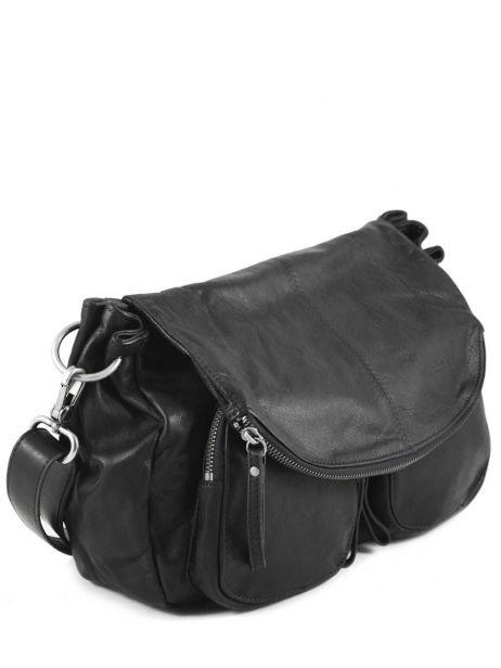 Crossbody Bag Lola Leather Nat et nin Black vintage LOLA other view 3